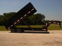 $11,995, 2015 SPRING SALE GOING ON NOW 8x20 gooseneck dump trailer 24 gvwr