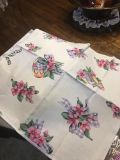 8 Cloth Easter Napkins and Matching Table Cloth 102 x 60 18.00