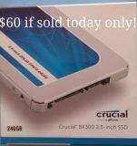 *NEW* ~ 240GB SSD by Crucial, BX300 series
