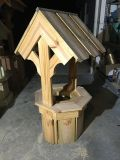 Wooden Wishing Well 41 Pressure Treated Pine construction with 19 octagon base
