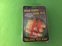 Brain Teaser Case-Tete. Real Wood 3D Puzzle. New in Package