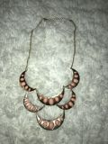 Short Gold Chain Necklace with Bubblegum Pink Beads