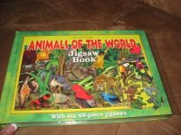 Animals of the World Jigsaw Puzzle Book NEW