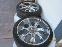 Set of 4 22 inch Rims with tires in good condition. Taken off a 2006 Dodge Charger.