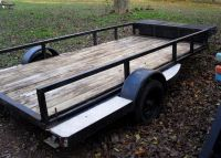5x11 Utility Trailer with Tool Box