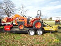 $2,500, 2005 Kubota L3130HST 4WD Tractor with Trailer