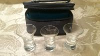 Shot glasses and case