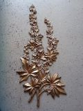 """Vintage 38"""" Tall 1960's 2 Tone Gold Wall Plaque"""