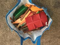 Bag of Lincoln logs