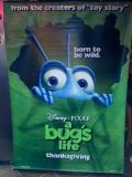 A BUGS LIFE GIANT 2 SIDED VINYL MOVIE DISPLAY APX 70X47