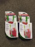 Set of 2 Baggy Openers. Arms Extend for Gallon Bags. Perfect for Food Prep or Leftovers! Green. Brand New in Packaging.