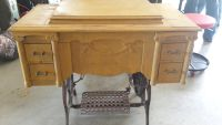 Old pedal sewing machine