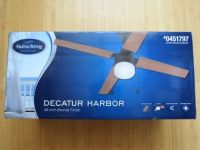 Harbor Breeze Decatur 48 inch Bronze Ceiling Fan w/ Light Kit DownRod