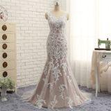 Chloe's Mermaid Lace V Neck Wedding Gown