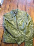 Mossimo green leather jacket