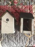Birdhouse curtain holders or decorative pieces 7 1/4 tall 3 1/4 wide porch pick up in Mooresville