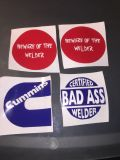 Welder hard hat decals $5 each 3x3 inbox me if you would like a different color or design