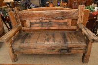 Large Rustic, Wood Bench
