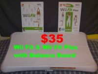 Wii Fit & Wii Fit Plus Games with Wii Balance Board IN PERFECT CONDITION