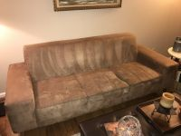 Couch (tan suede material)