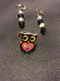Earrings and owl ring
