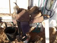 17 in used western saddle