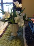EUC flower arrangement. Stands Approximately 19in tall.