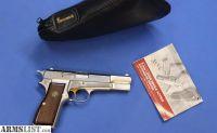 For Sale: BELGIAN BROWNING HI-POWER NICKEL 9mm w/FACTORY CASE 1981