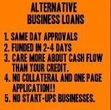 Business Loans... Same day approvals...Funds in 2-4 business days