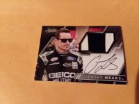 Casey Mears autograph race used sheet metal card