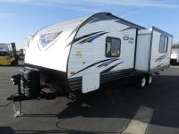 2018 Forest River SALEM 231RKXL, 1 SLIDE, REAR KITCHEN, FRONT WALK AROUND QUEEN BED, CLIMATE PACKAGE, POWER STABILIZER JACKS, POWER AWNING
