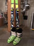 Rossignal Skis (140s) with bindings and Size 8.5 (26.5)