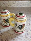 "Vintage salt and pepper shakers 4"" both for $5"