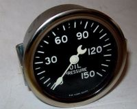 Sell NOS Stewart Warner Oil Pressure Gauge Crescent Needle Curved Glass Lens SEALED!! motorcycle in Santa Cruz, California, United States, for US $95.00