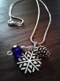 Winter Silver Snowflake Necklace