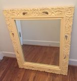"""Large Vintage Mirror. Perfect fot a little girl's room! 30""""x35"""" CP."""