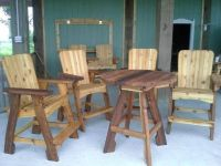 Handcrafted cedar deck and patio furniture