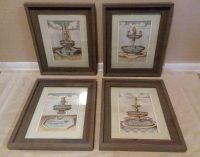 (4) MATCHING WALL DECOR.....EXCELLENT CONDITION
