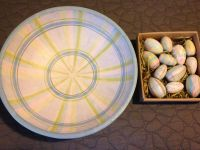 Primitives by Kathy Easter Bowl w/ 12 Eggs