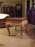 End table, coffee table. All solid wood, carved, ornate -very elegant.