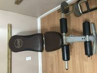 Adjustable weight bench and weights