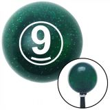 Buy White Ball #9 Green Metal Flake Shift Knob with 16mm x 1.5 Insert hemi rat rod motorcycle in Portland, Oregon, United States, for US $29.97