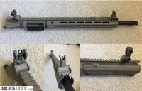 "For Sale: Troy M-LOK 13"" Rail, Troy BUIS, and AeroPrecision AR15 Upper Receiver"