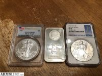 For Trade: Silver coins and bar