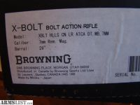 For Sale: Browning X-Bolt Long Range 7mm
