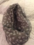Infinity scarf gray and white