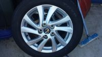 x4 17 mazda aluminum rims w/ 55 r16 toyo tubeless tire local pickup only