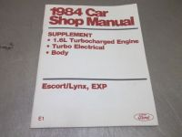Sell 1984 Ford Tempo Escort Lynx EXP 1.6L Turbo DIY Factory Service Repair Manual motorcycle in Franklin, Indiana, United States, for US $4.99