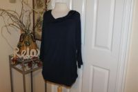 $10 NEW NWT A. Giannetti Navy blue blouse, 1X