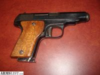 """For Sale: MAB """"C"""" .32 ACP 7-shot mag. excellent condition, blued finish, wood grip, pocket gun"""